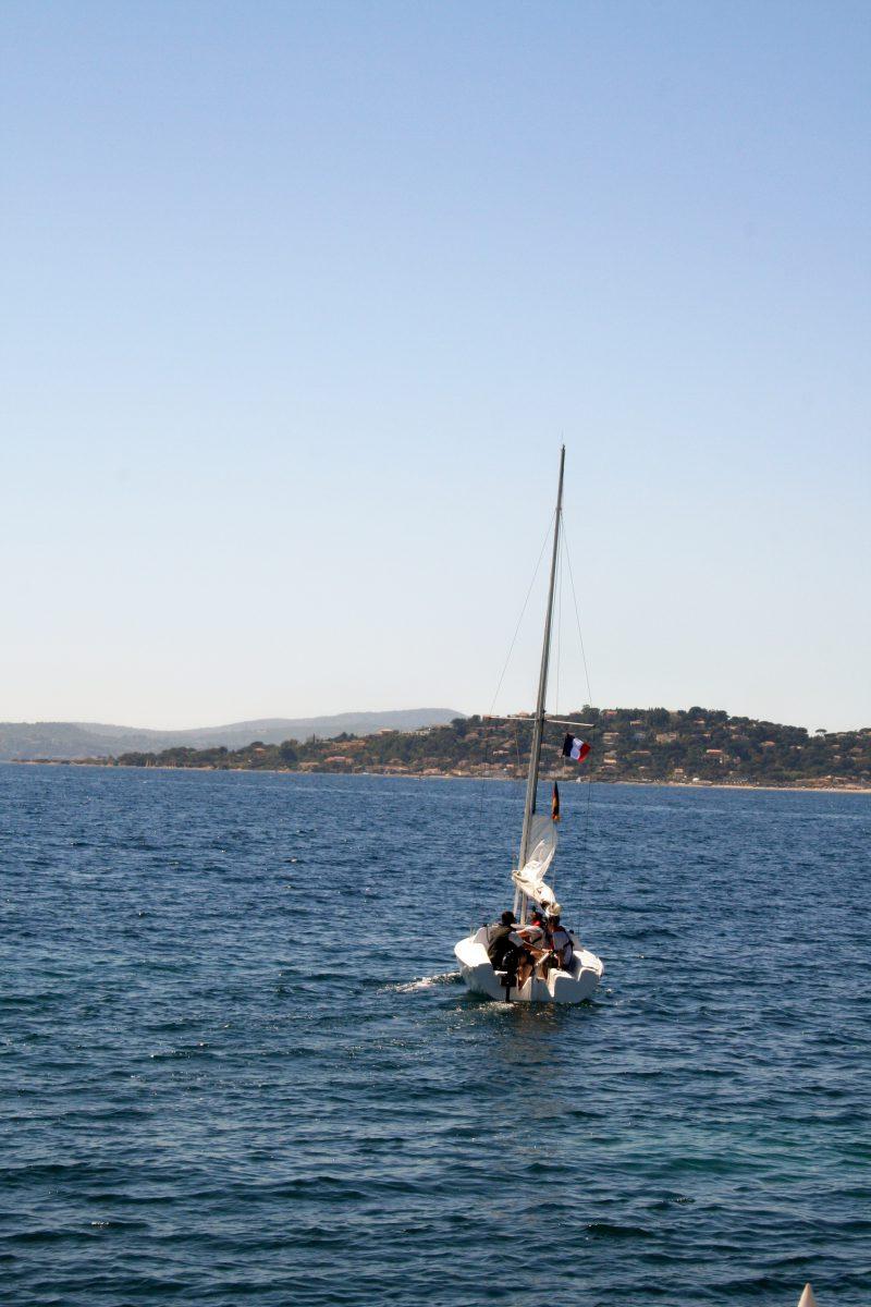 Segeln in Frankreich auf dem Mittelmeer